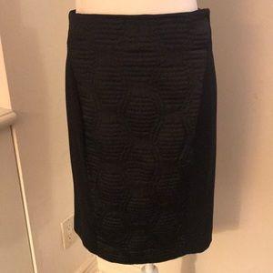 Rachel Roy quilted satin & nylon pencil skirt!